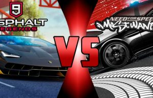 Asphalt 9 vs Need for speed most wanted