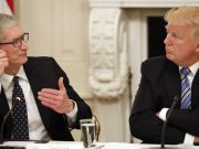Trump es el castillo de Tim Cook, y el presidente es Tim, Apple""