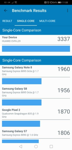 uawei mate 20 x geekbench benchmark