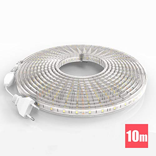 TechBox Led tiras 220V 10 metros para exterior IP68 Cold white strip