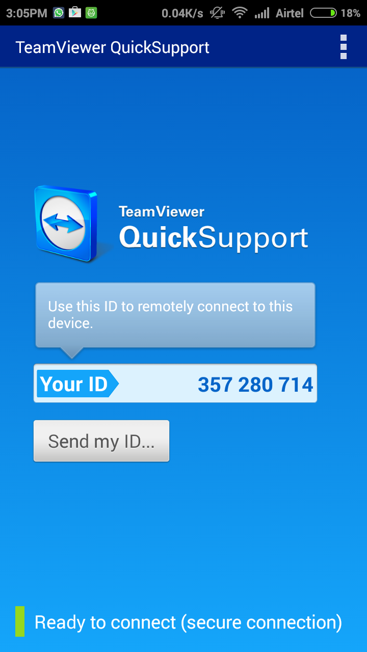 "TeamViewer Quick Support ""width ="" 253 ""height ="" 450 ""srcset ="" https://www.todotech20.com/wp-content/uploads/2019/04/1554708943_348_Como-duplicar-tu-pantalla-de-Android-Mobile-para-Windows-PC.png 720w, https: // techviral. net / wp-content / uploads / 2015/09 / teamviewer-quicksupport-1-169x300.png 169w, https://techviral.net/wp-content/uploads/2015/09/teamviewer-quicksupport-1-576x1024.png 576w, https://techviral.net/wp-content/uploads/2015/09/teamviewer-quicksupport-1-696x1237.png 696w, https://techviral.net/wp-content/uploads/2015/09/teamviewer -quicksupport-1-236x420.png 236w ""data-lazy-size ="" (max-width: 253px) 100vw, 253px"