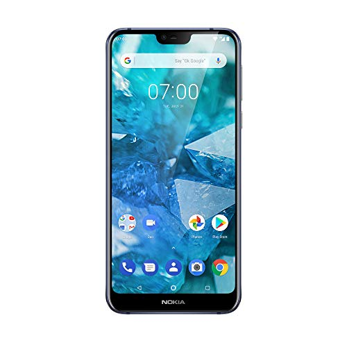 "Nokia 7.1 Smartphone de 32 GB (ampliable hasta 256 GB), 3 GB de RAM, Dual SIM, pantalla de 5.84 ""19: 9 Full HD Resolution +, cámara trasera doble 12 MP / 5 MP, azul"