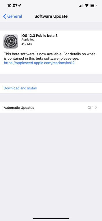 Descargue iOS 12.3 Public Beta 2 para iPhone, iPad y iPod