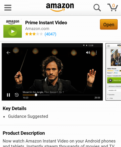 Como mirar Amazon Prime Instant Video en Android 2