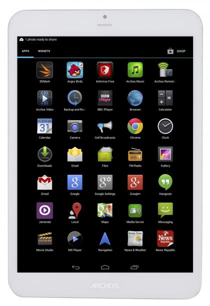 Archos 79 Xenon Tablet Front App Drawer