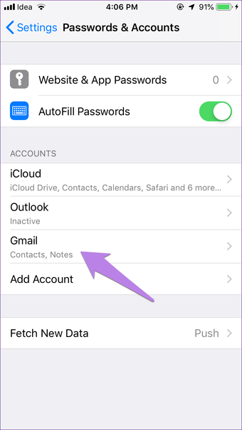 Agrega Iphone Ipad Notes a Gmail 4