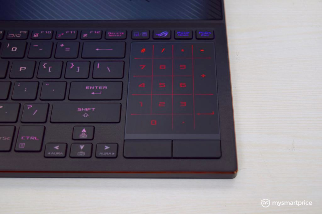 """ASUS Zephyrus S GX531GW Trackpad Number Pad Hybrid """"width ="""" 696 """"height ="""" 464 """"srcset ="""" https://assets.mspimages.in/wp-content/uploads/2019/05/ASUS-Zephyrus-S-GX531GW- Trackpad-Number-Pad-Hybrid-1024x682.jpg 1024w, https://assets.mspimages.in/wp-content/uploads/2019/05/ASUS-Zephyrus-S-GX531GW-Trackpad-Number-Pad-Hybrid-300x200 .jpg 300w, https://assets.mspimages.in/wp-content/uploads/2019/05/ASUS-Zephyrus-S-GX531GW-Trackpad-Number-Pad-Hybrid-768x512.jpg 768w, https: // activos .mspimages / wp-content / uploads / 2019/05 / ASUS-Zephyrus-S-GX531GW-Trackpad-Number-Pad-Hybrid-696x464.jpg 696w, https: //assets.mspimages/wp-content/ uploads / 2019 / 05 / ASUS-Zephyrus-S-GX531GW-Trackpad-Number-Pad-Hybrid-1068x712.jpg 1068w, https://assets.mspimages.in/wp-content/uploads/2019/05/ASUS-Zephyrus -S-GX531GW -Trackpad-Number-Pad-Hybrid-630x420.jpg 630w, https://assets.mspimages.in/wp-content/uploads/2019/05/ASUS-Zephyrus-S-GX531GW-Trackpad-Number- Pad-Hybrid- 50x33.jpg 50w """"tamaños ="""" (ancho máximo: 696 píxeles ) 100vw, 696px"""