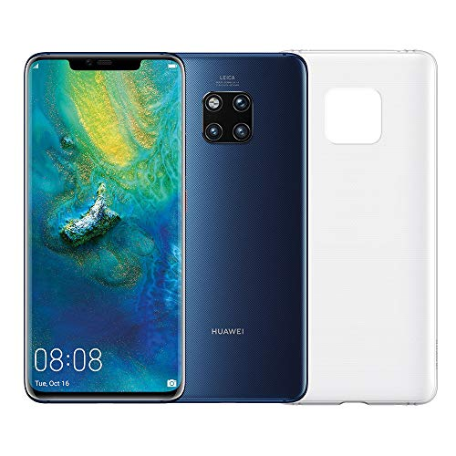 "Huawei Mate 20 Pro (Blu) più Cover Originale, Telefono con 128 GB, Display Oled 6 .39"" QHD+, Processore Kirin 980 Octa Core dinamico con Intelligenza Artificiale (Versione Italiana)"