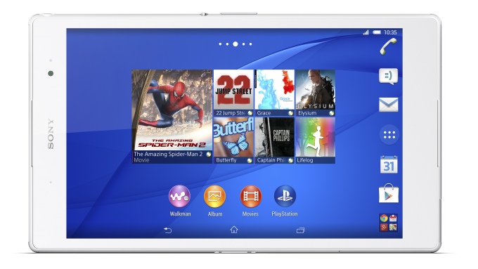 Sony Xperia Z3 Tablet Compact vs Google Nexus 7 - comparación de especificaciones 2