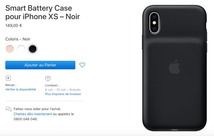 Smart Battery Case no disponible iPhone XS / XS Max y XR Smart Battery Case están agotados