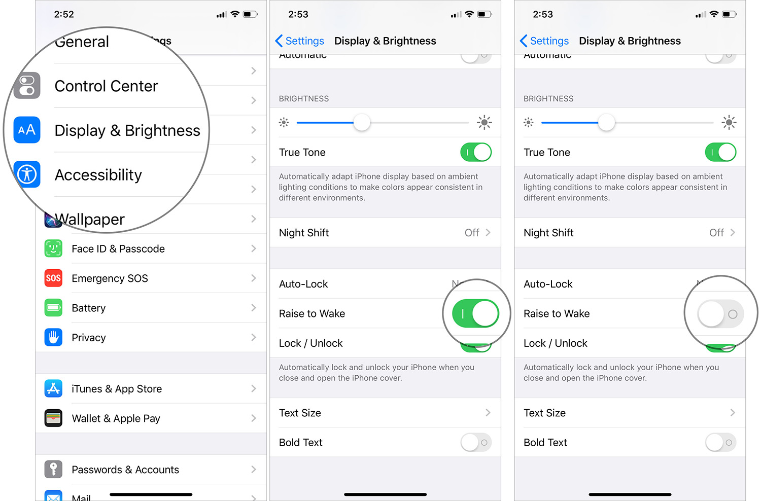 Desactivar Raise to Wake en iPhone con iOS 13