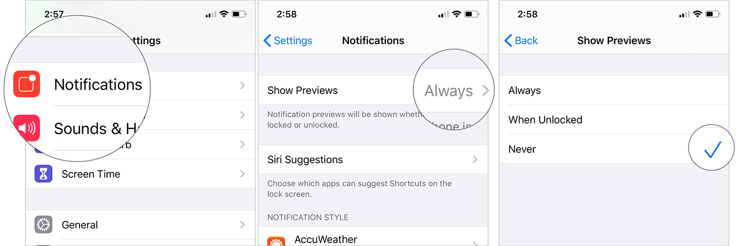 Deshabilitar notificaciones de aplicaciones en iOS 13 en iPhone