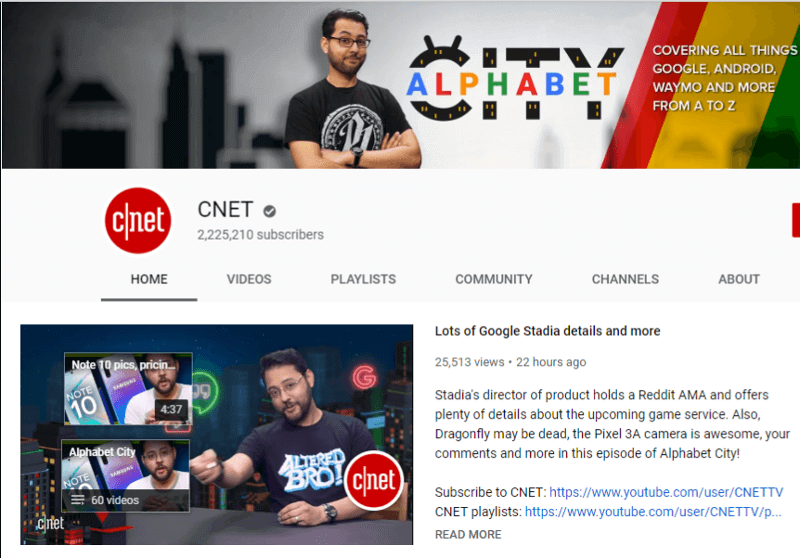 CNET - YouTube Canal