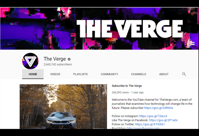 The Verge - YouTube canal