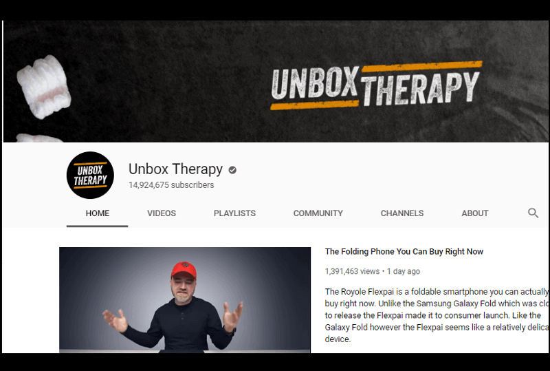 Unbox Therapy - Canal de Youtube