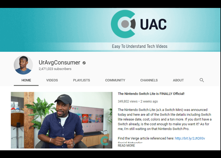 UrAvgConsumer YouTube Canal