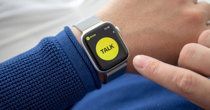 Cómo usar el walkie talkie en su Apple Watch