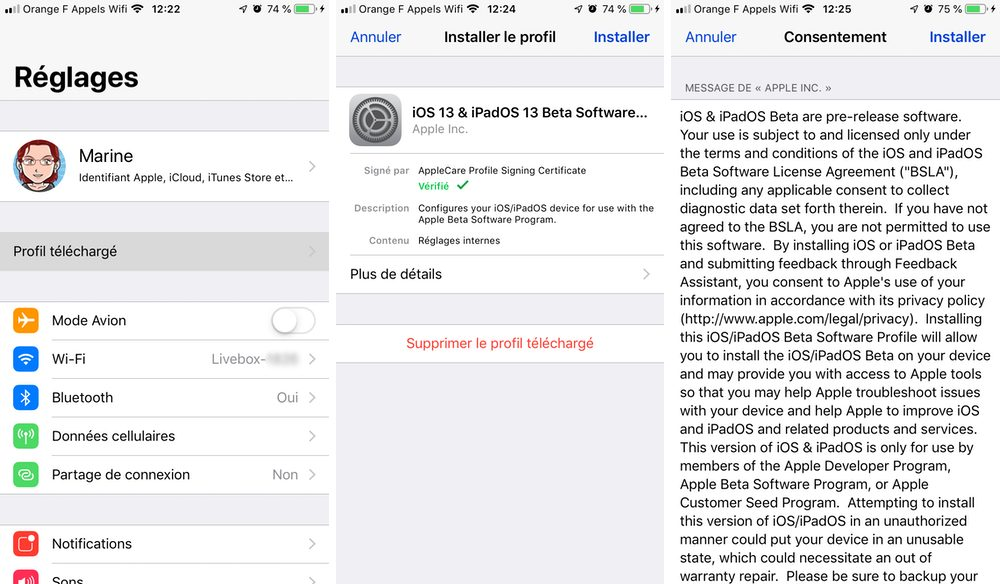 iphone install beta profile Cómo descargar e instalar la versión beta de iOS 13 en su iPhone