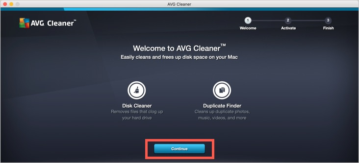 Configurar AVG Cleaner en Mac