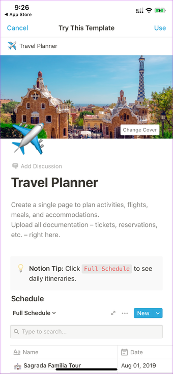 Notion Travel