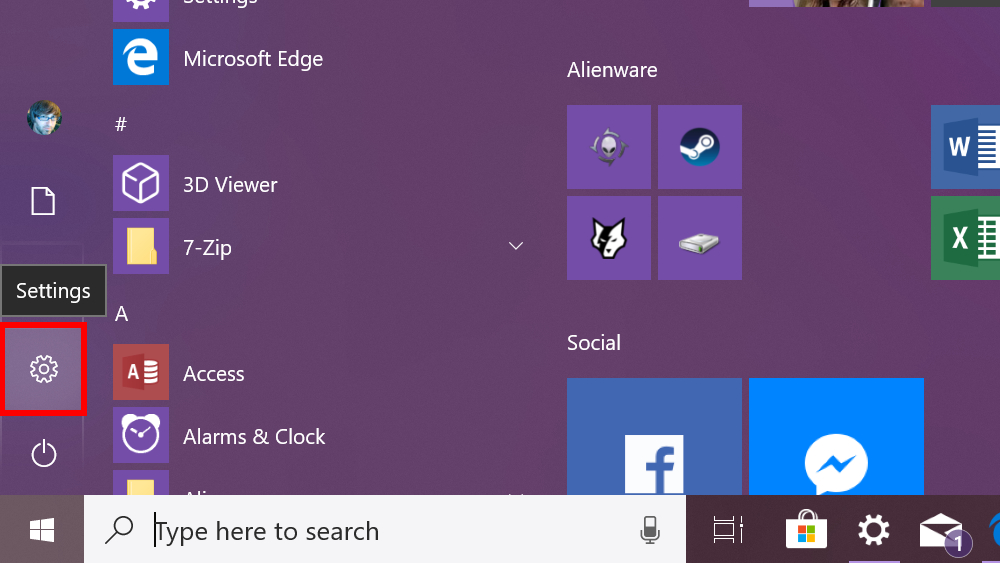 Windows  10 configuraciones de acceso