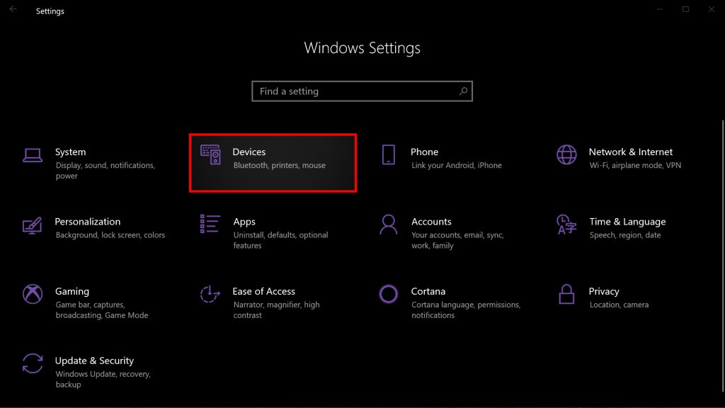 Windows  10 dispositivos seleccionados